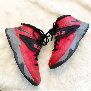 Nike LeBron Soldier Vll Basketball Red 599818